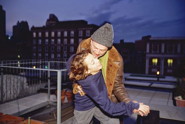 JC-and-Elio-dancing-on-the-roof,-Brooklyn,-2013